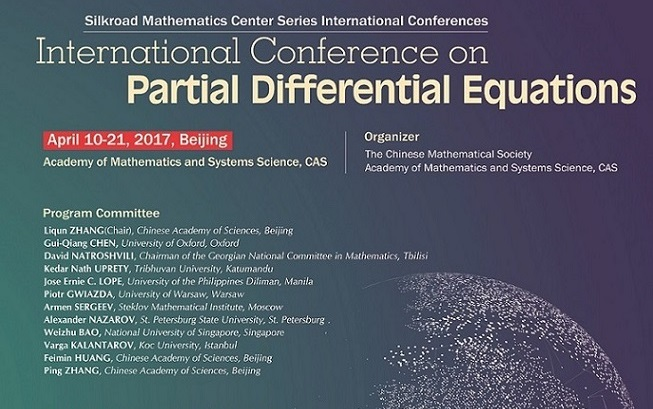 International Conference on Partial Differential Equations----Silkroad Mathematics Center Series International Conferences